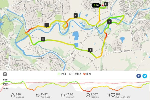 Radcliffe 10km Route